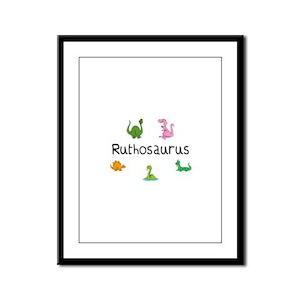 Ruthosaurus Framed Panel Print