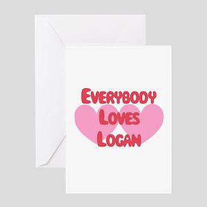 Everybody Loves Logan Greeting Card
