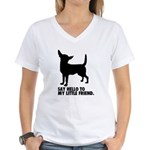 Chihuahua Women's V-Neck T-Shirt