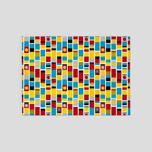 Totem Stripes 5'x7'Area Rug