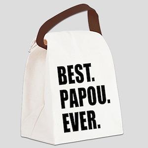 Best Papou Ever Canvas Lunch Bag