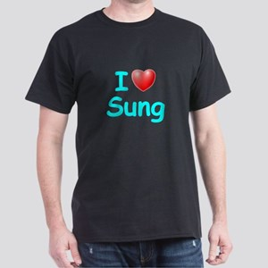 I Love Sung (Lt Blue) Dark T-Shirt