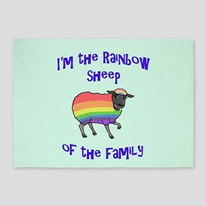 Rainbow Sheep of the Family 5'x7'Area Rug