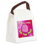 Set Your Timer Canvas Lunch Bag