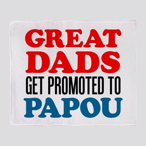 Dads Promoted To Papou Throw Blanket