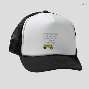 Bus Driver Quote Kids Trucker hat