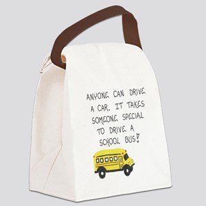 Bus Driver Quote Canvas Lunch Bag