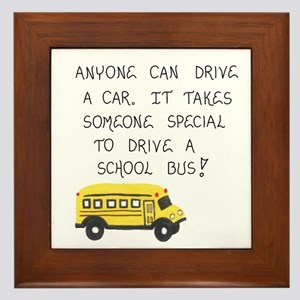 Bus Driver Quote Framed Tile