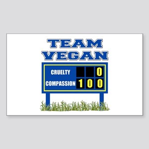 Team Vegan Rectangle Sticker