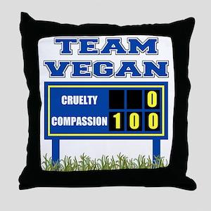 Team Vegan Throw Pillow