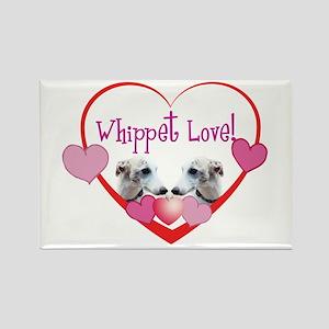 Whippet Love Rectangle Magnet