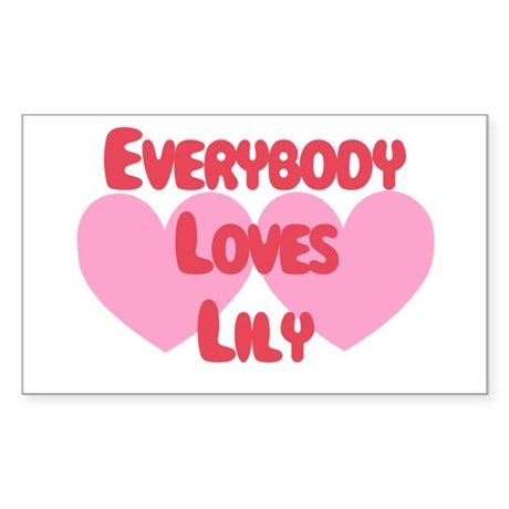 Everybody Loves Lily Rectangle Sticker