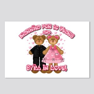 10th Anniversay Teddy Bears Postcards (Package of