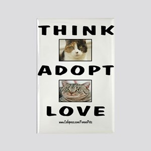 Think Adopt Love (cats) Rectangle Magnet