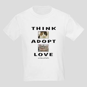 Think Adopt Love (cats) Kids Light T-Shirt
