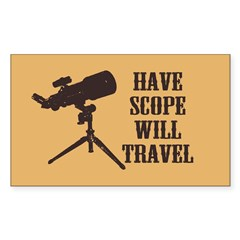 Have Scope Will Travel Rectangle Decal