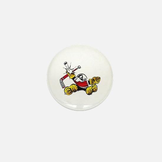 Small Saves The Hockey Goalie Mini Button