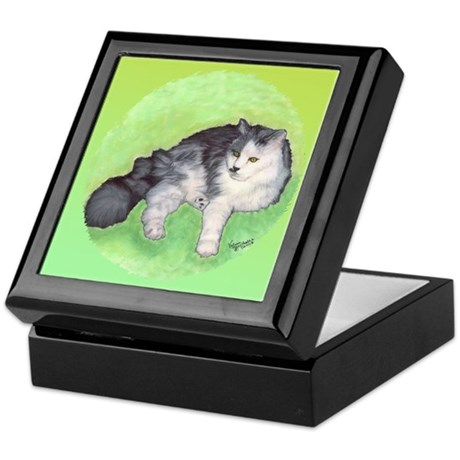 Long Haired Cat Keepsake Box