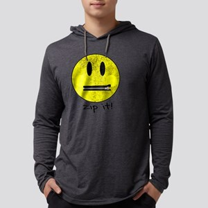SMILEY FACE ZIP IT Long Sleeve T-Shirt
