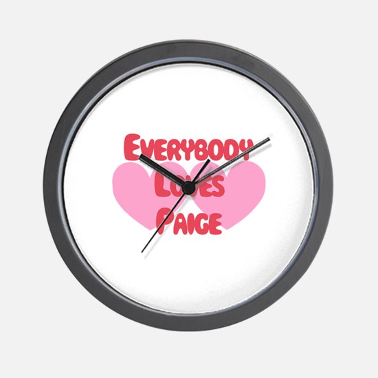 Everybody Loves Paige Wall Clock