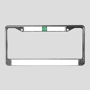 Extended Green owl Tree License Plate Frame
