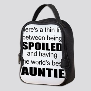 Funny auntie Neoprene Lunch Bag
