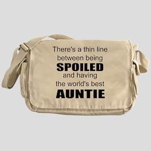 Funny auntie Messenger Bag