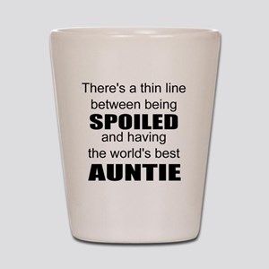 Funny auntie Shot Glass