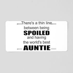 Funny auntie Aluminum License Plate
