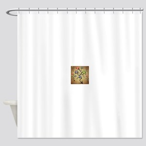 Extended Brown Owl Tree Shower Curtain