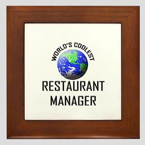 World's Coolest RESTAURANT MANAGER Framed Tile