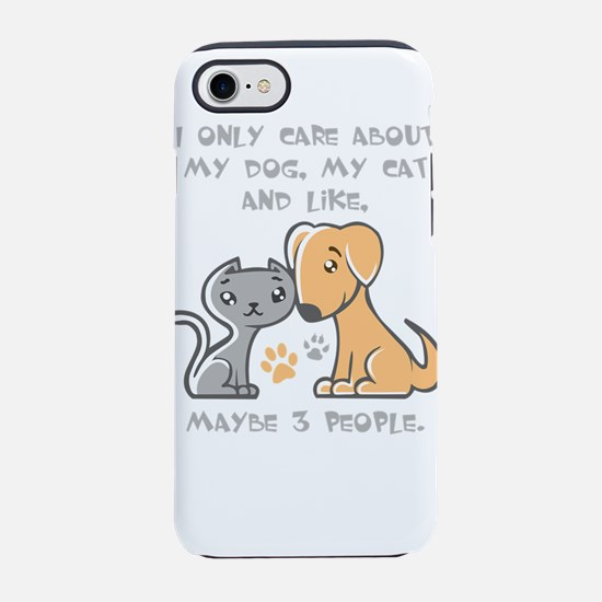 i only care about my dogs, m iPhone 8/7 Tough Case
