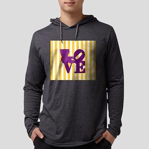 Louisiana Love Purple and Gold Long Sleeve T-Shirt