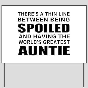 Cute auntie Yard Sign