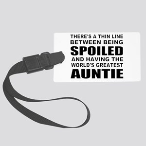 Cute auntie Large Luggage Tag