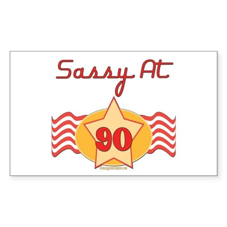 Sassy at 90 Years Rectangle Sticker