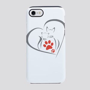 i love pets iPhone 8/7 Tough Case