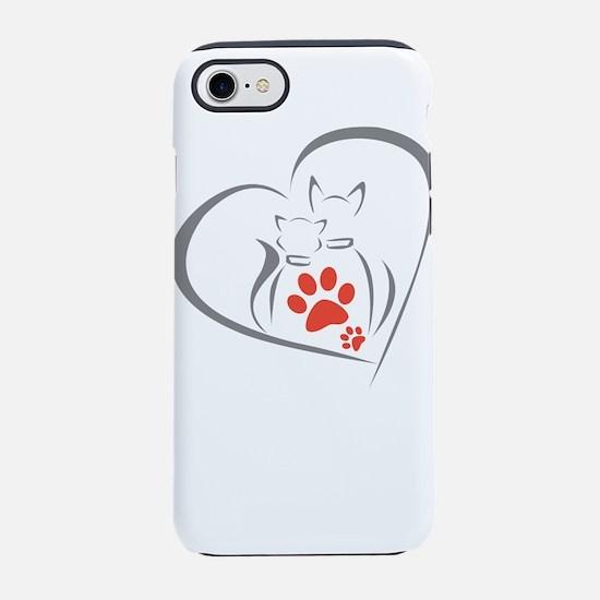 i love pets iPhone 8/7 Tough Case