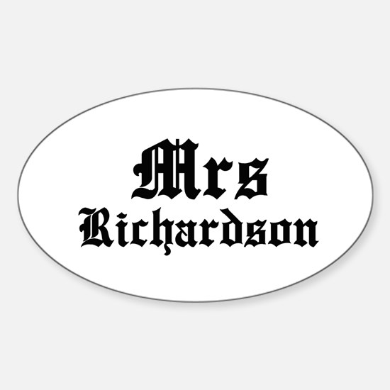 Mrs Richardson Oval Decal