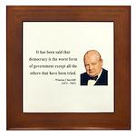 Winston Churchill 1 Framed Tile