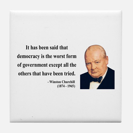Winston Churchill 1 Tile Coaster