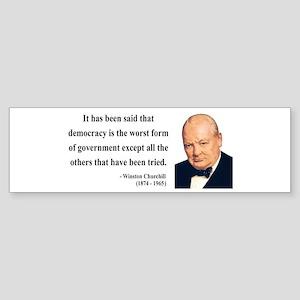 Winston Churchill 1 Bumper Sticker
