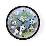 Panda Bears Wall Clock