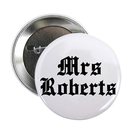 """Mrs Roberts 2.25"""" Button (10 pack)"""