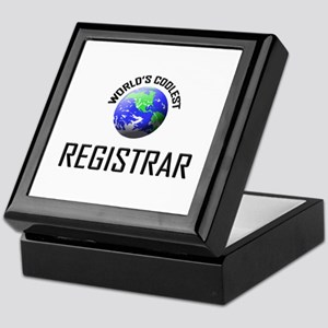 World's Coolest REGISTRAR Keepsake Box