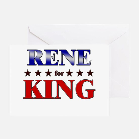RENE for king Greeting Card