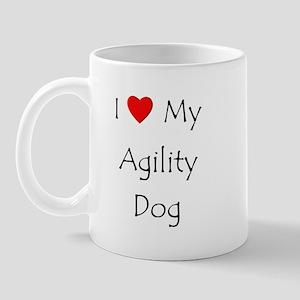 I Love My Agility Dog Mug