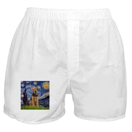 Starry Night & Airedale #6 Boxer Shorts
