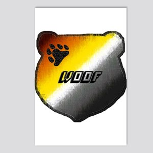 WOOF- BEAR PRIDE HEAD Postcards (Package of 8)