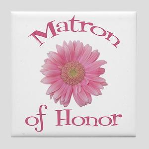 Daisy Matron of Honor Tile Coaster